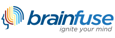 "Brainfuse ""ignite your mind"" logo"