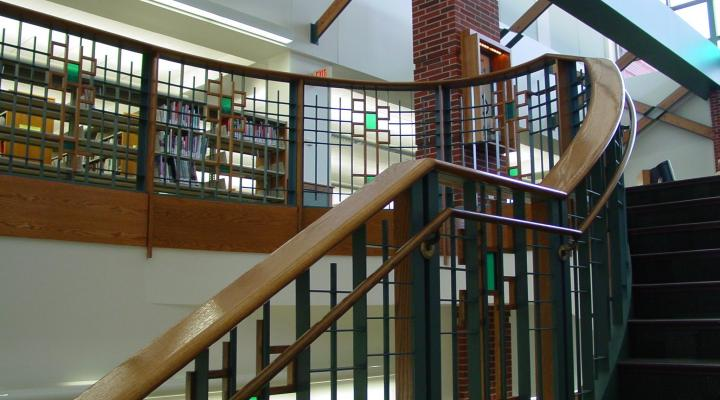 West Des Moines Public Library staircase